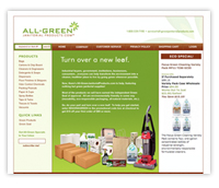 All Green Janitorial products