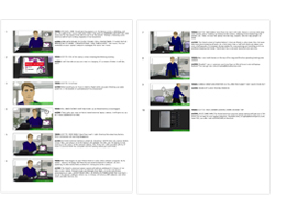 Web Video storyboard