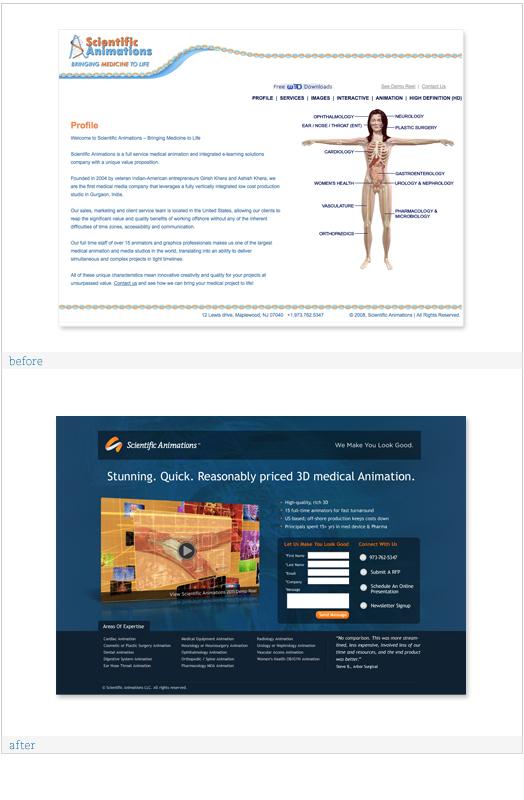 Scientific Animations Web Design