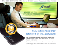 Xtend Laptop Batteries Website Design