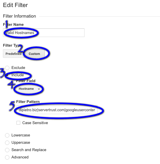 How To Include Valid Hostnames Analytics